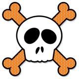 Crâne et os croisés Photo libre de droits