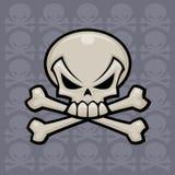 Crâne et os croisés Images libres de droits