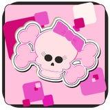 Crâne et os croisés de Girly Images libres de droits