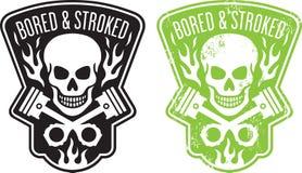 Crâne et pistons Image stock