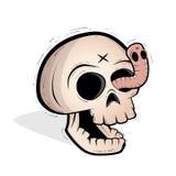 Crâne et ver Images libres de droits