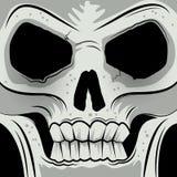 Crâne fâché fait face carré illustration libre de droits
