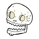 crâne fantasmagorique de bande dessinée comique Photos libres de droits