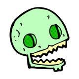 crâne fantasmagorique de bande dessinée comique Photo stock