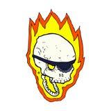 crâne flamboyant de pirate de bande dessinée comique Images libres de droits