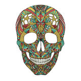 Crâne fleuri Images libres de droits