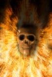 Crâne, fond de Halloween image libre de droits