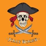 Crâne gai de Roger illustration de vecteur