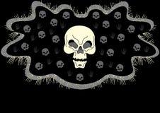 Crâne grunge Photo stock