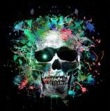 Crâne humain illustration stock