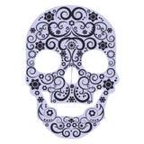 Crâne humain des fleurs - vecteur illustration stock