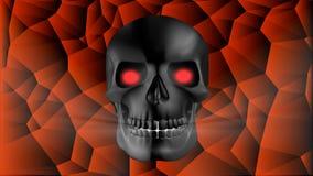 Crâne humain noir Photo stock