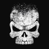 Crâne humain noir et blanc Images stock