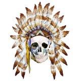 Crâne indigène illustration de vecteur