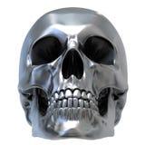 Crâne métallique Photos libres de droits
