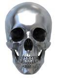 Crâne métallique Images libres de droits