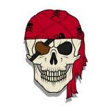 Crâne mauvais de pirate Roger gai illustration de vecteur