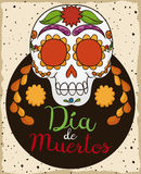Crâne mexicain coloré traditionnel pour et x22 ; Dia de los Muertos& x22 ; , Illustration de vecteur Photos libres de droits