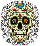 Crâne mexicain de sucre Photos stock
