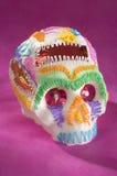 Crâne ou âCalaveritaâ mexicain de sucre Photos libres de droits