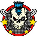 Crâne punk illustration de vecteur