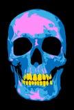 Crâne rose illustration de vecteur