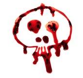 Crâne sanglant images libres de droits
