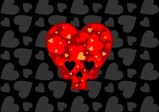 Crâne sous forme de coeur Photographie stock