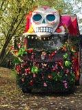 Crâne sur un camion Photos stock
