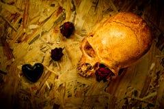 Crâne toujours d'amour de la vie Photos stock