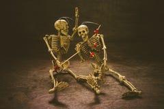 Crâne toujours d'amour de la vie Photo libre de droits