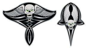 Crâne tribal réglé pour le tatouage Images libres de droits