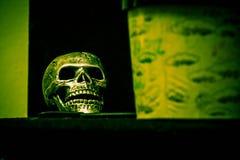 Crâne vert image libre de droits