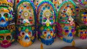 Crânes décorés Image libre de droits