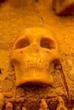 Crânes découpés par bougie Photographie stock libre de droits