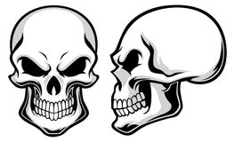 Crânes de bande dessinée Images libres de droits