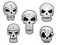 Crânes de bande dessinée réglés avec le danger illustration libre de droits