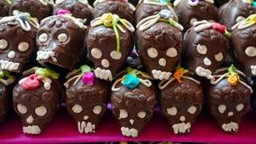 Crânes de chocolat Images libres de droits