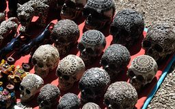 Crânes de Colorfull Photo libre de droits