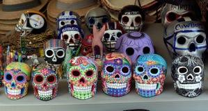 Crânes de Colorfull Photographie stock