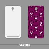 Crânes de couverture de téléphone Image stock