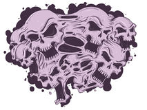 Crânes de fonte illustration de vecteur
