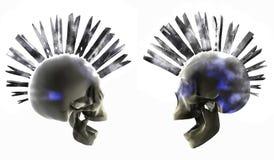 Crânes de Glowin Images stock