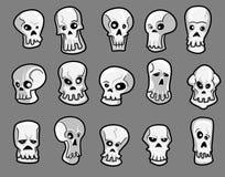Crânes de Halloween illustration de vecteur