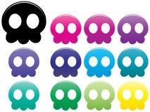 Crânes de méduses Photo stock