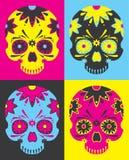 Crânes de Mexicain d'art de bruit illustration libre de droits