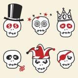 Crânes drôles illustration de vecteur