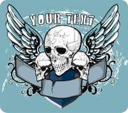 Crânes et ailes Images libres de droits