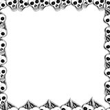 Crânes et os Cadre mignon de vecteur Image libre de droits