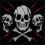 Crânes et vecteur croisé d'os illustration libre de droits